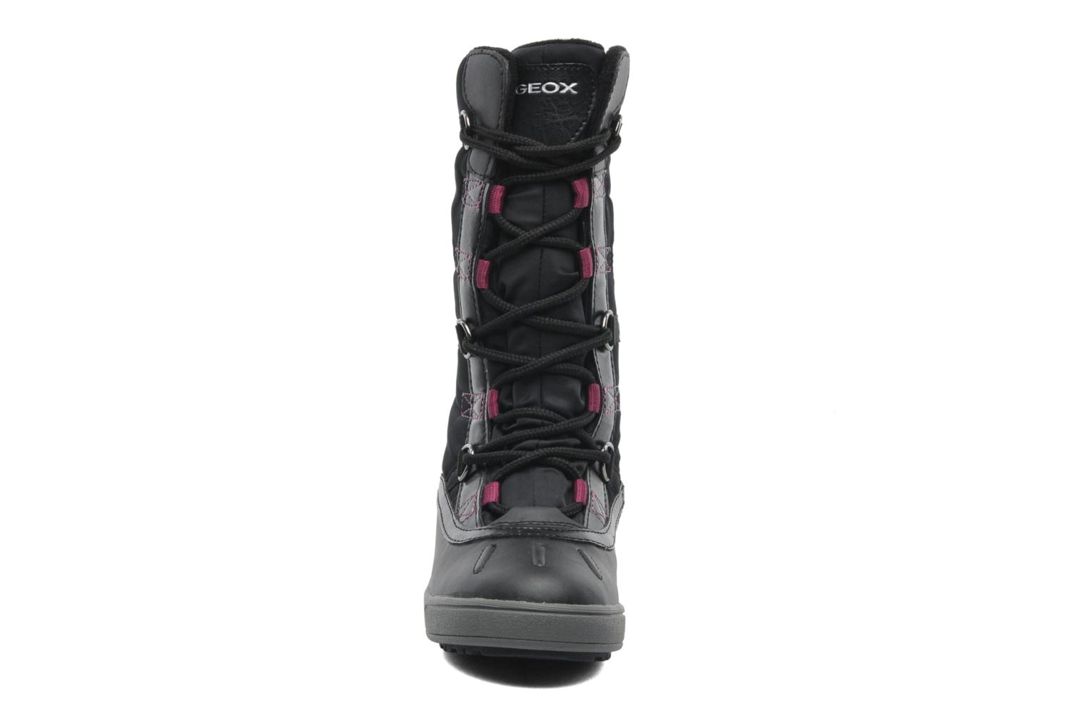 Boots & wellies Geox J JOING B GIRL ABX D Black model view