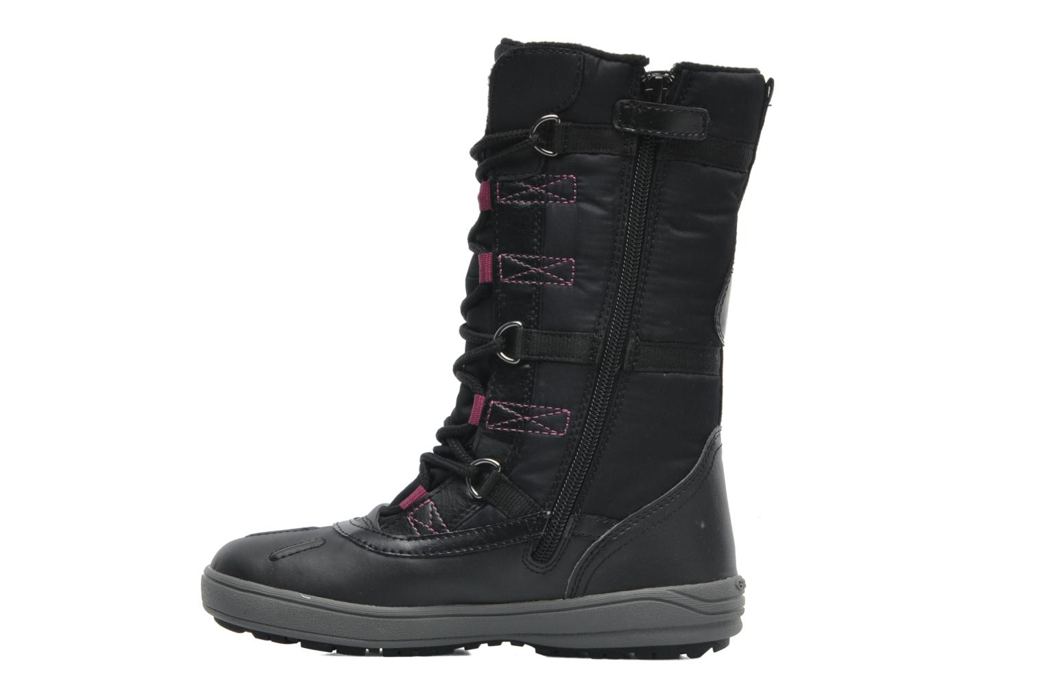 Boots & wellies Geox J JOING B GIRL ABX D Black front view