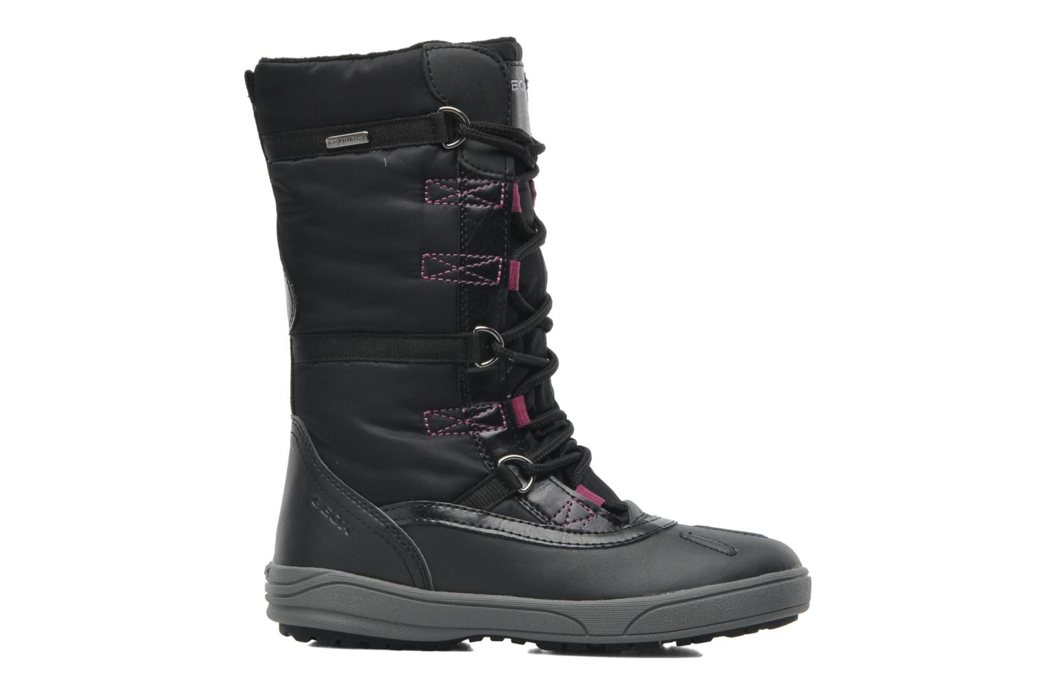 Boots & wellies Geox J JOING B GIRL ABX D Black back view