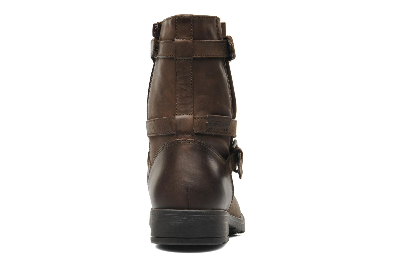 Ankle boots Geox JR SOFIA I Brown view from the right