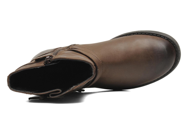 Stiefeletten & Boots Geox JR SOFIA I braun ansicht von links