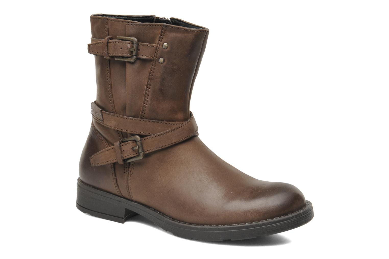 Bottines et boots Geox JR SOFIA I Marron vue détail/paire