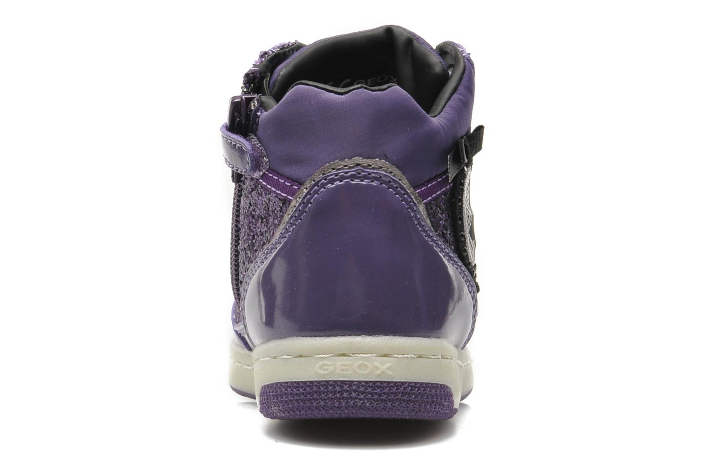 Sneakers Geox JR CREAMY B Paars rechts