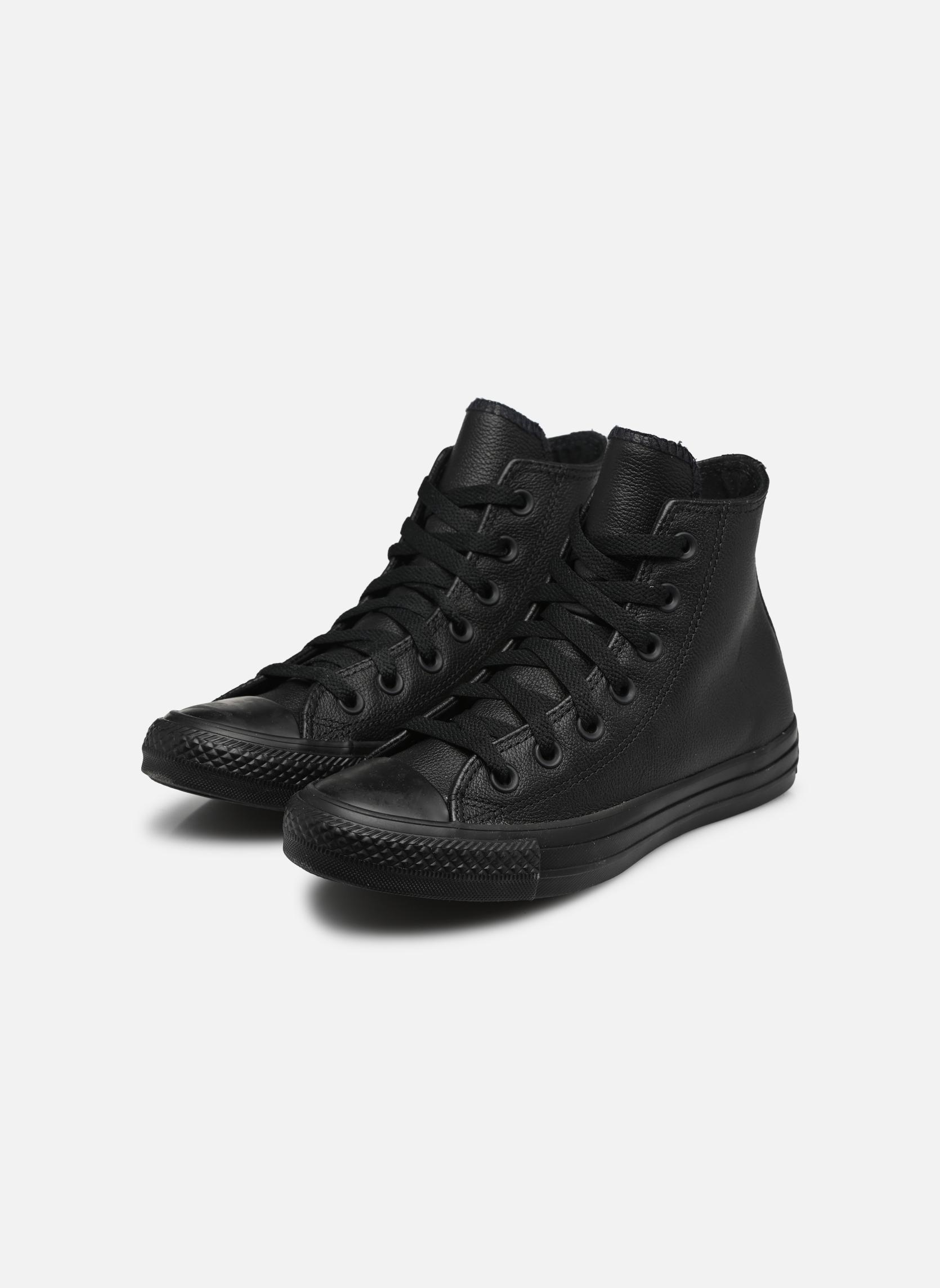 Chuck Taylor All Star Mono Leather Hi W Noir