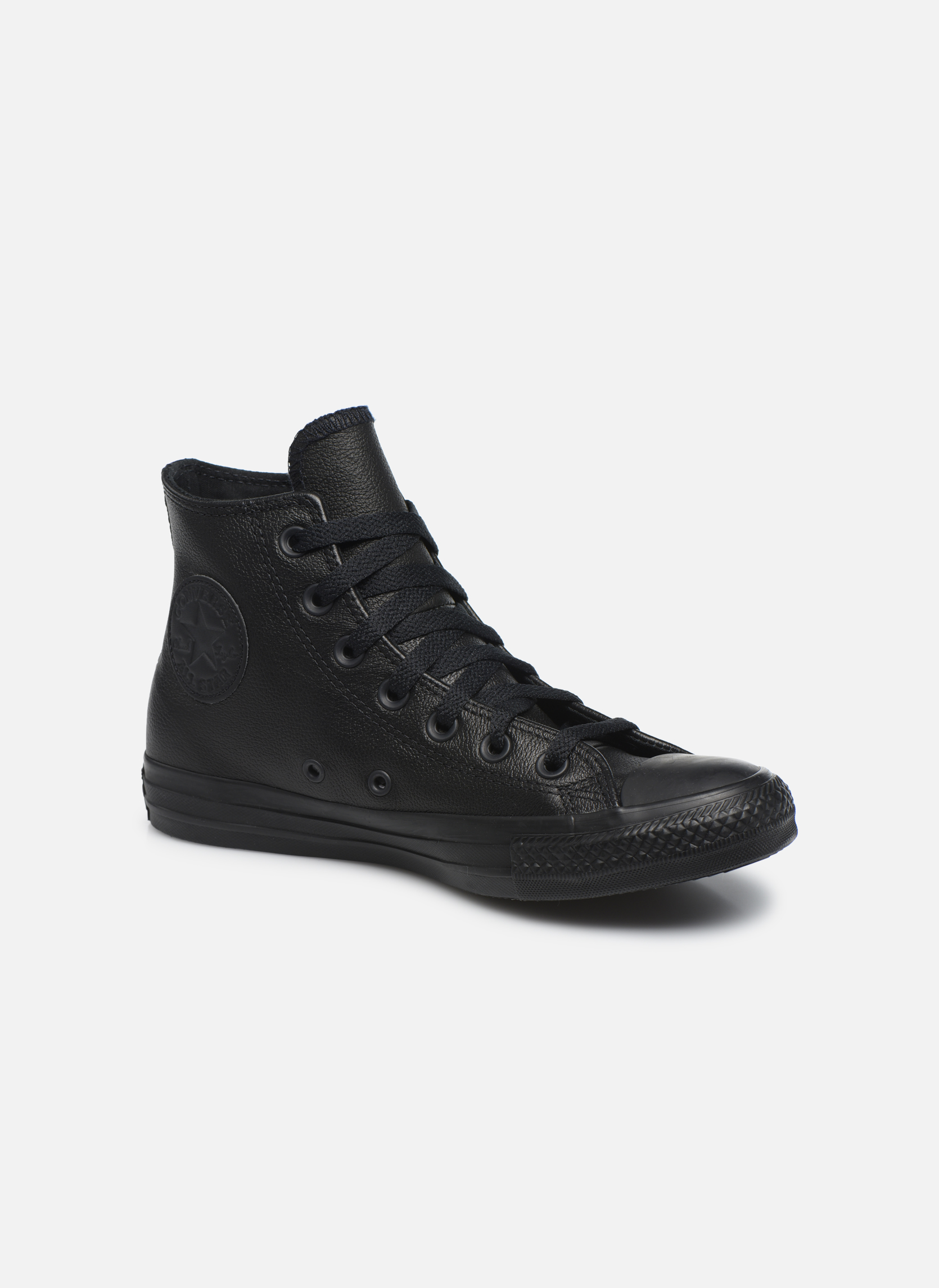 Baskets Converse Chuck Taylor All Star Mono Leather Hi W Noir vue détail/paire