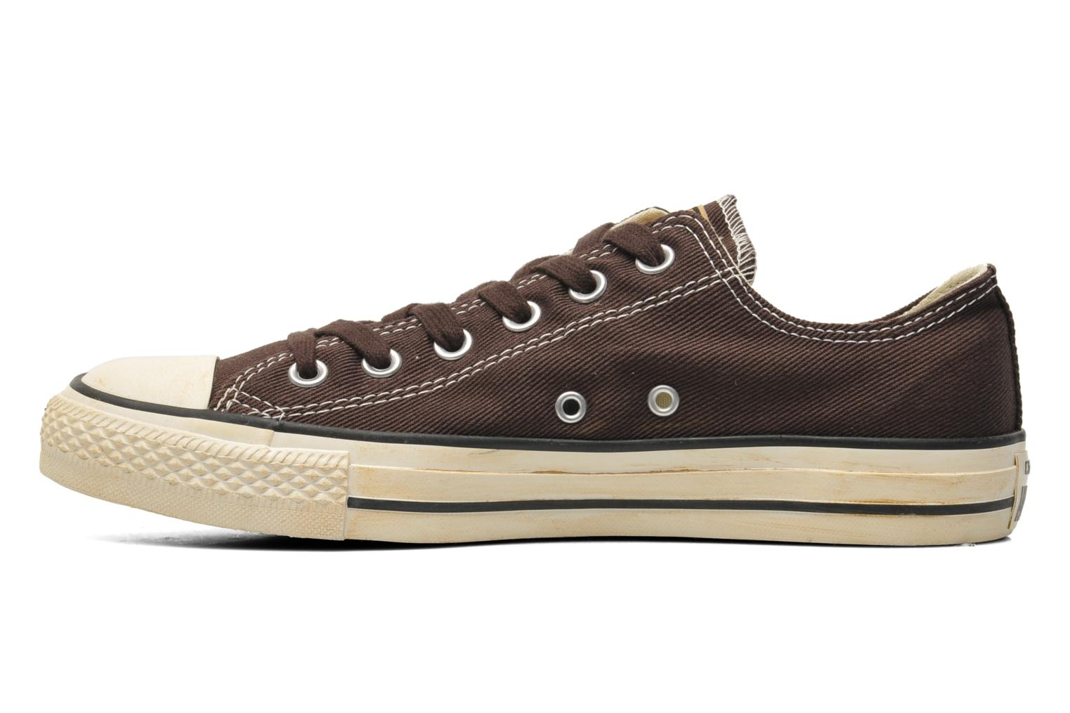 Sneakers Converse Chuck Taylor Vintage Washed Twill Ox M Bruin voorkant