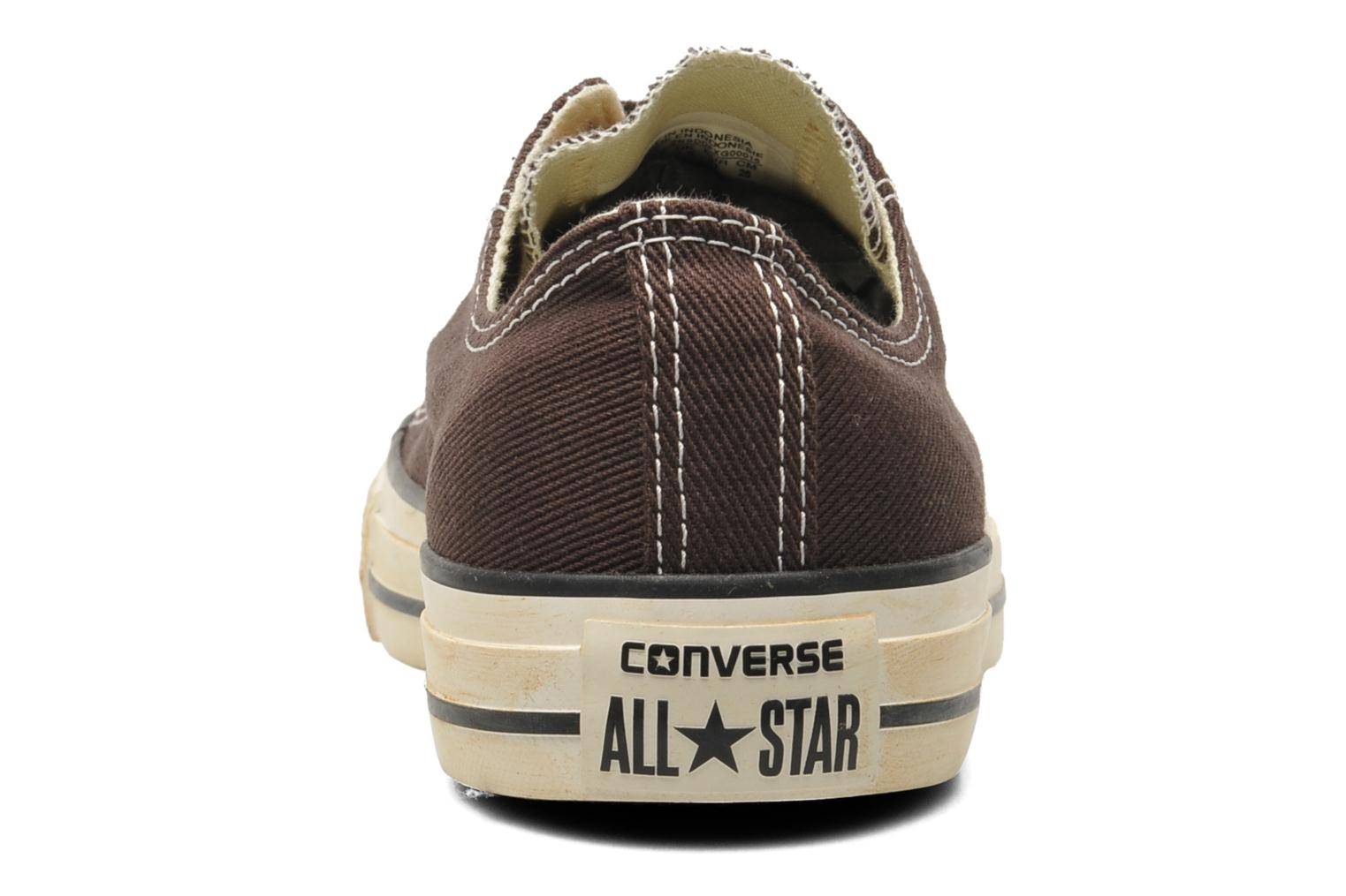 Sneakers Converse Chuck Taylor Vintage Washed Twill Ox M Bruin rechts