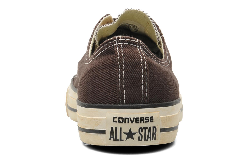 Sneaker Converse Chuck Taylor Vintage Washed Twill Ox M braun ansicht von rechts