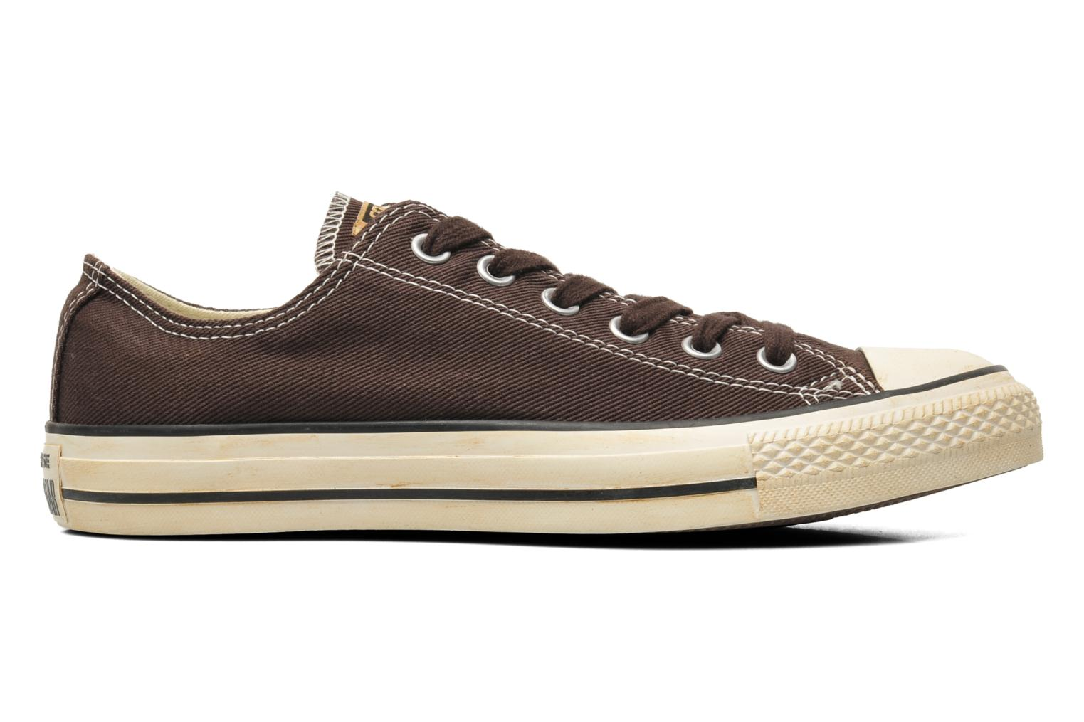 Trainers Converse Chuck Taylor Vintage Washed Twill Ox M Brown back view