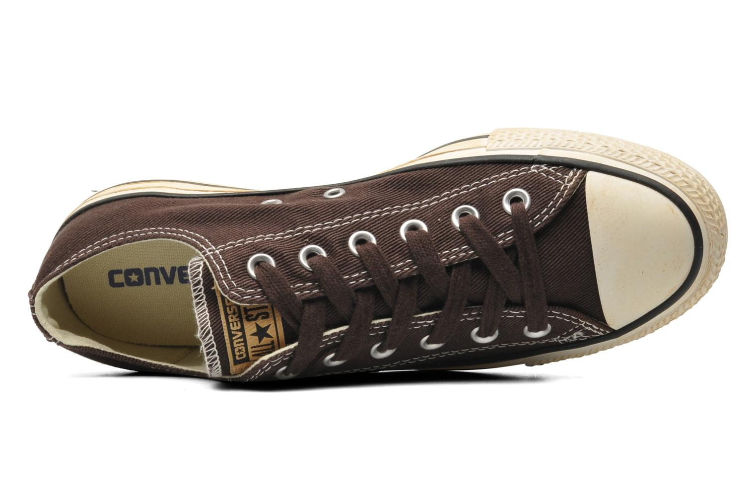 Trainers Converse Chuck Taylor Vintage Washed Twill Ox M Brown view from the left