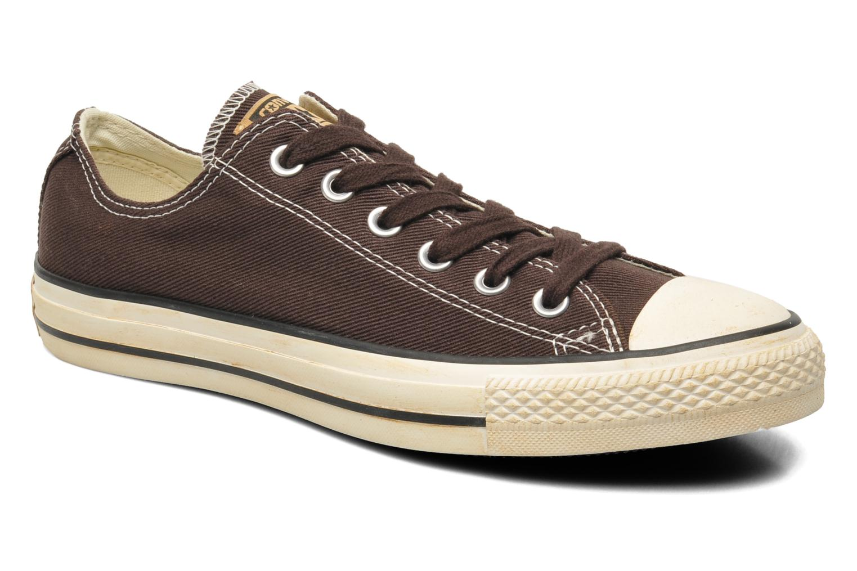Sneakers Converse Chuck Taylor Vintage Washed Twill Ox M Brun detaljerad bild på paret