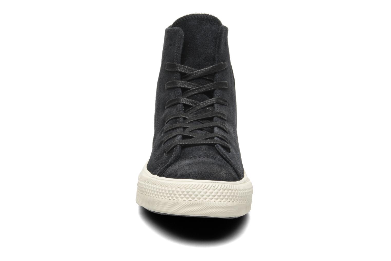 Baskets Converse Chuck Taylor Burnished Suede Double Zip Hi M Noir vue portées chaussures