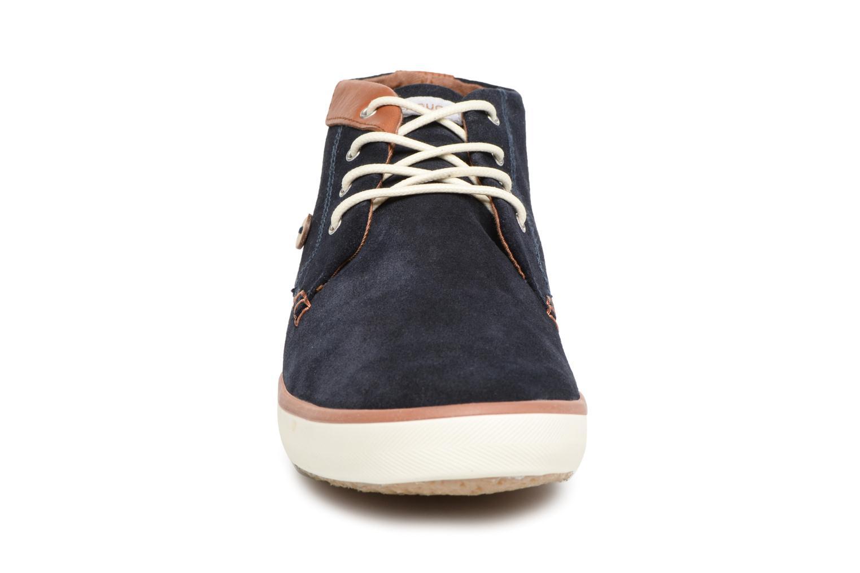 Baskets Faguo Wattle Suede Bleu vue portées chaussures