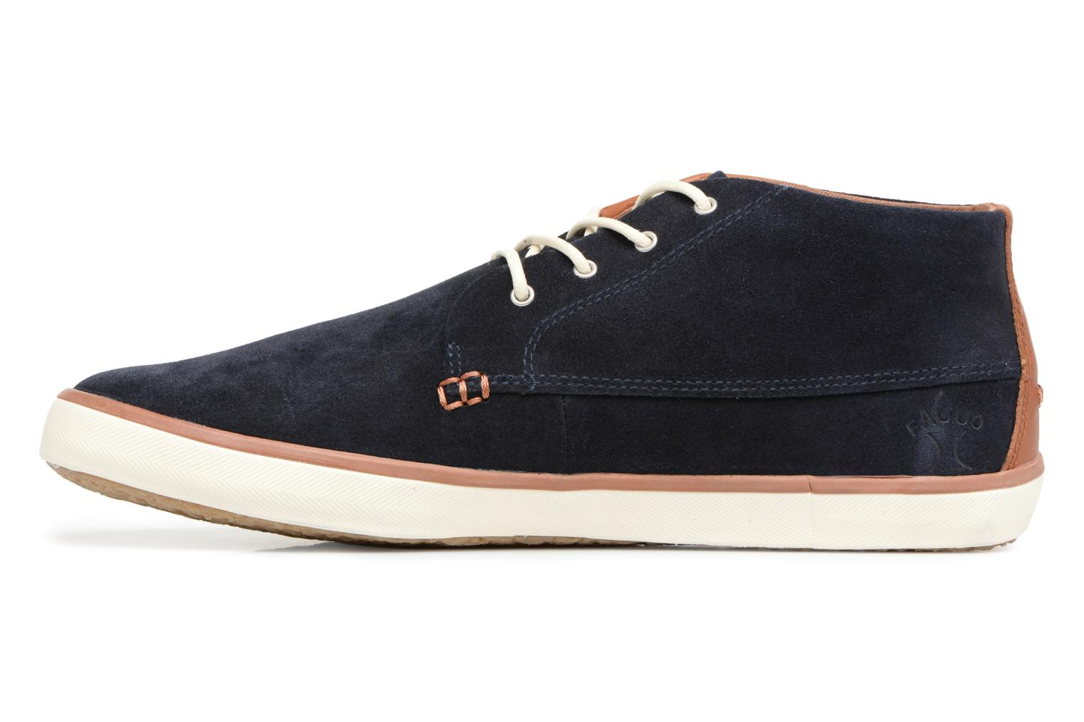 Trainers Faguo Wattle Suede Blue front view