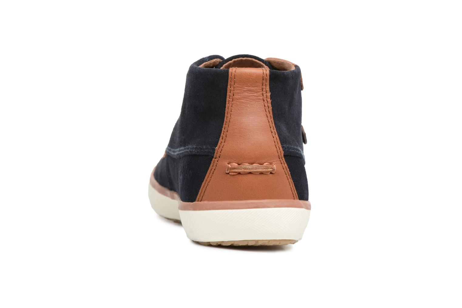 Trainers Faguo Wattle Suede Blue view from the right