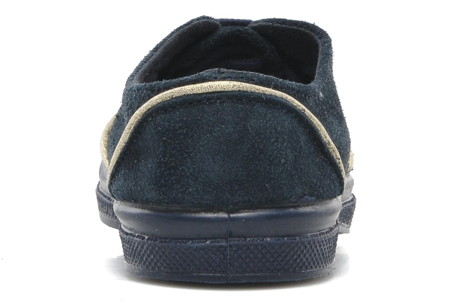 Trainers Bensimon Tennis Suedpiping E Blue view from the right