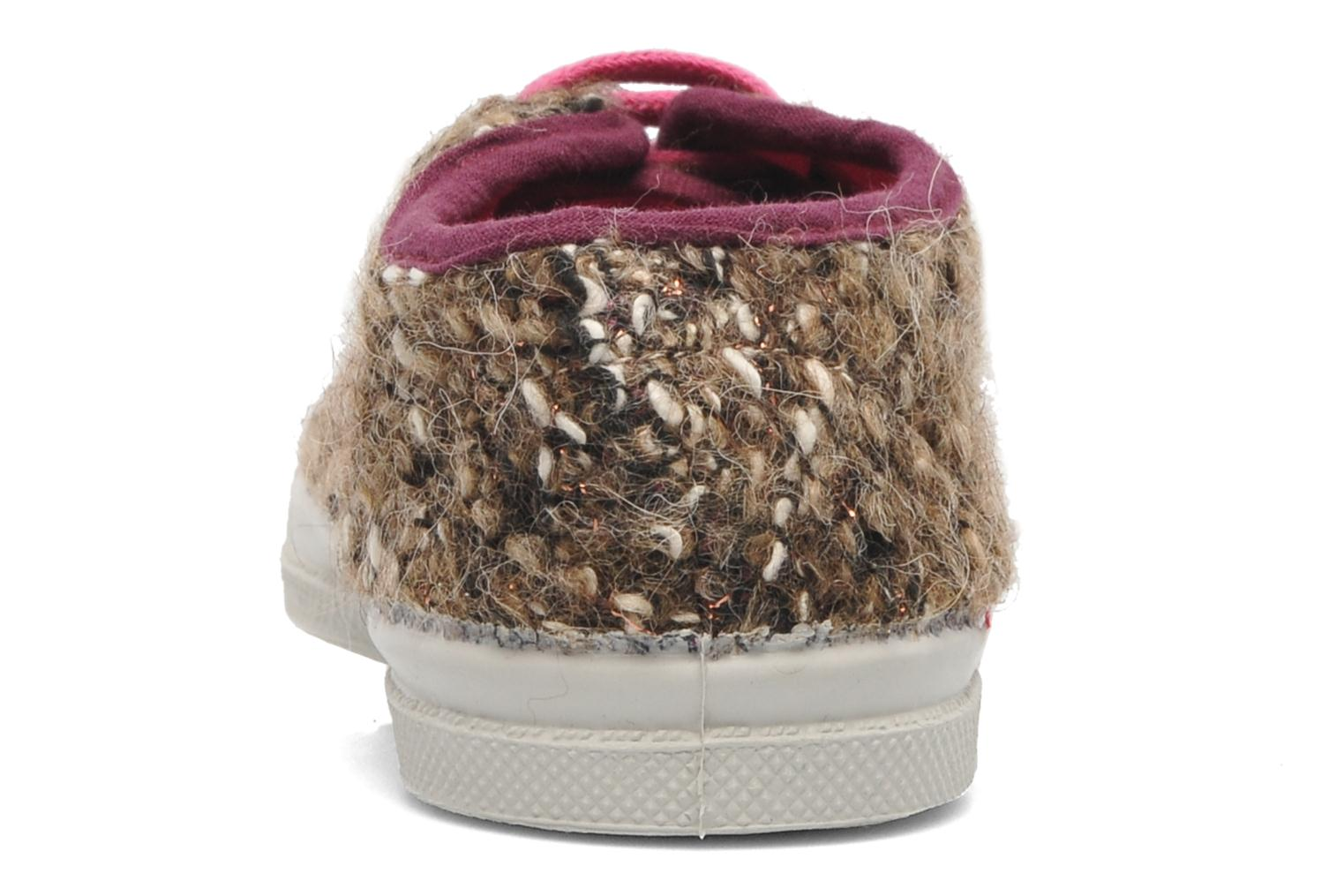 Baskets Bensimon Tennis Tweedy E Marron vue droite