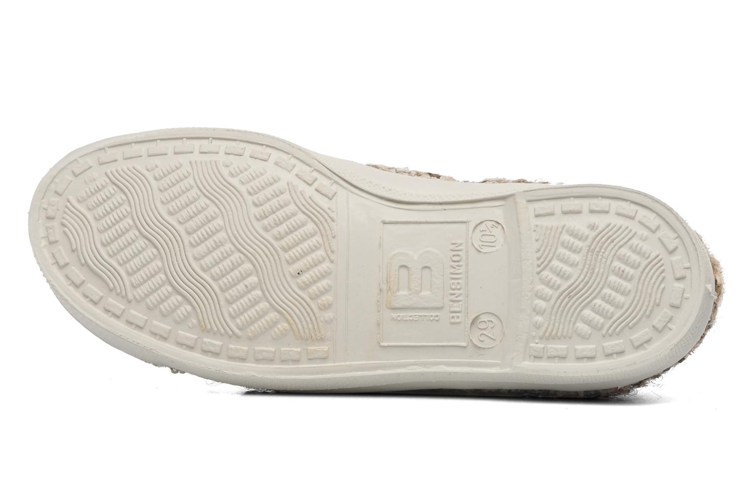 Baskets Bensimon Tennis Tweedy E Marron vue haut