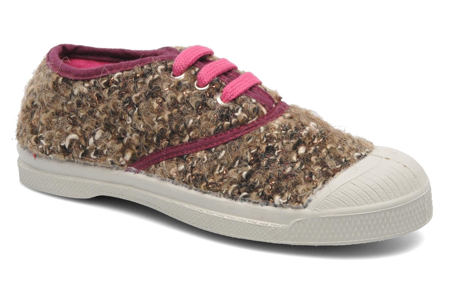 Baskets Bensimon Tennis Tweedy E Marron vue détail/paire