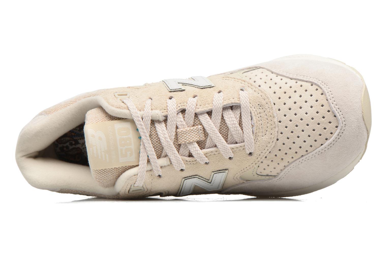 Sneaker New Balance WRT580 weiß ansicht von links