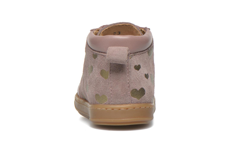 Boots Shoo Pom Bouba Bump Rosa Bild från höger sidan