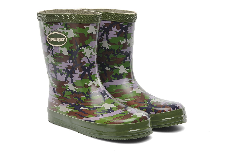 Boots & wellies Havaianas Aqua Kids Camuflada Green 3/4 view