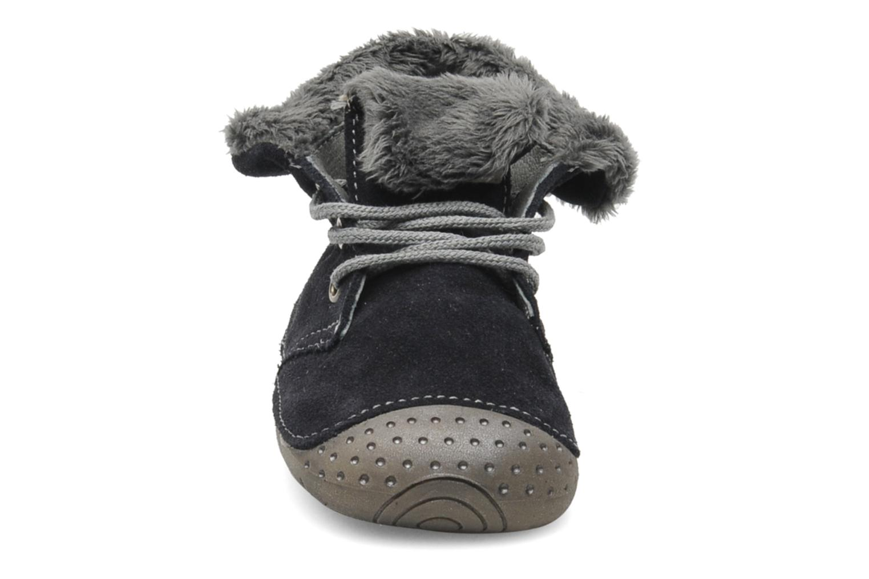 Chaussons Babybotte ZOUK Bleu vue portées chaussures