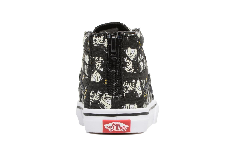 Baskets Vans SK8-Hi Zip BB Noir vue droite