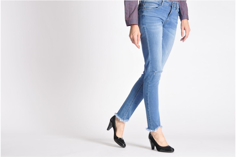 High heels Georgia Rose Zahida Black view from underneath / model view