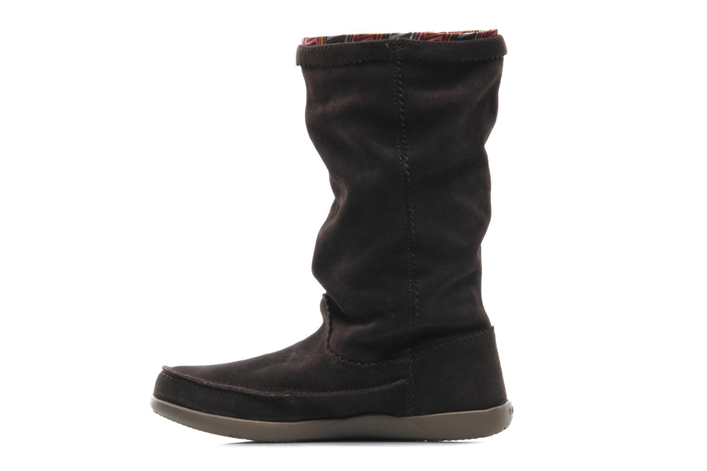 Boots en enkellaarsjes Crocs Adela Suede Boot W Bruin voorkant