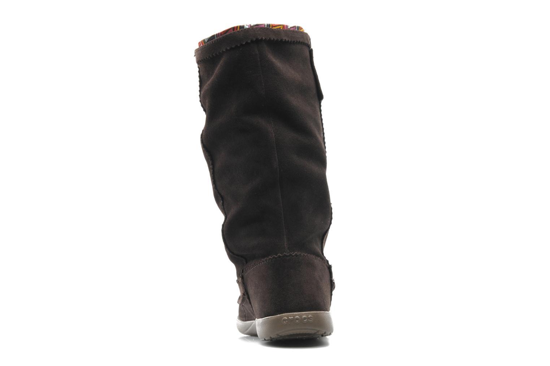 Boots en enkellaarsjes Crocs Adela Suede Boot W Bruin rechts