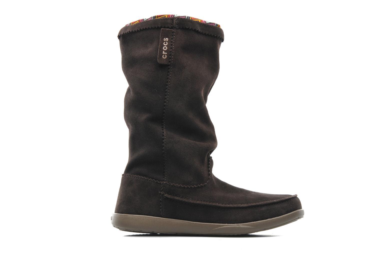 Boots Crocs Adela Suede Boot W Brun bild från baksidan