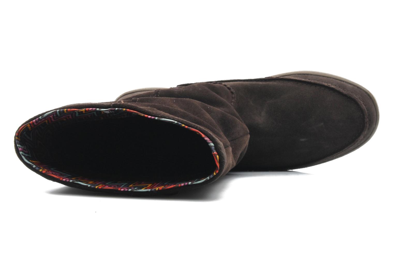Boots en enkellaarsjes Crocs Adela Suede Boot W Bruin links
