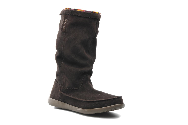 Boots en enkellaarsjes Crocs Adela Suede Boot W Bruin detail