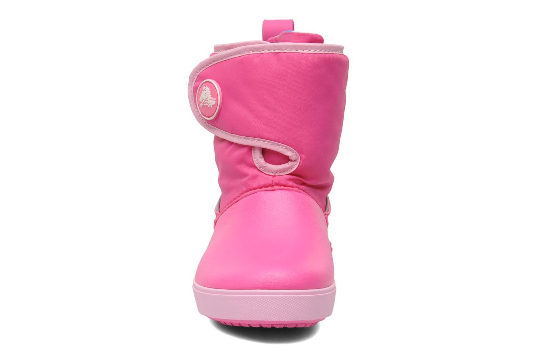 Stiefel Crocs Crocband II.5 Gust Boot Kids rosa schuhe getragen
