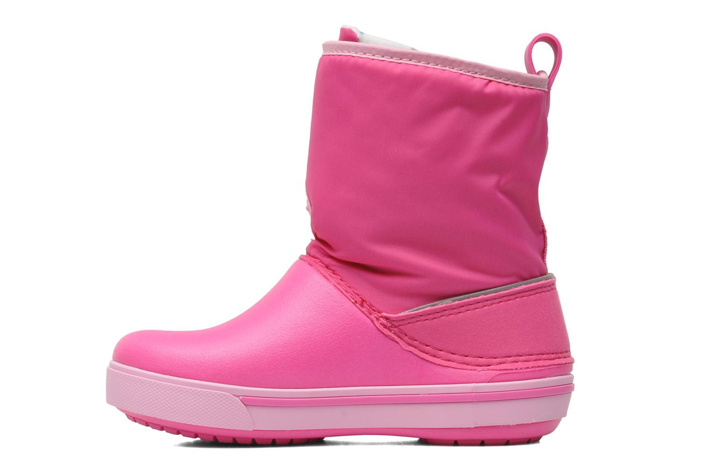Stiefel Crocs Crocband II.5 Gust Boot Kids rosa ansicht von vorne