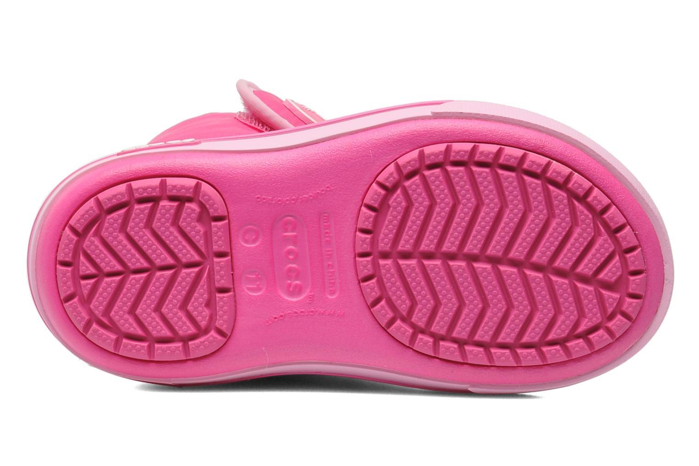 Stiefel Crocs Crocband II.5 Gust Boot Kids rosa ansicht von oben