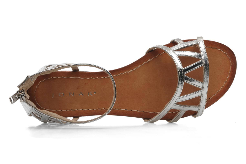 Sandales et nu-pieds Jonak Jessy Argent vue gauche
