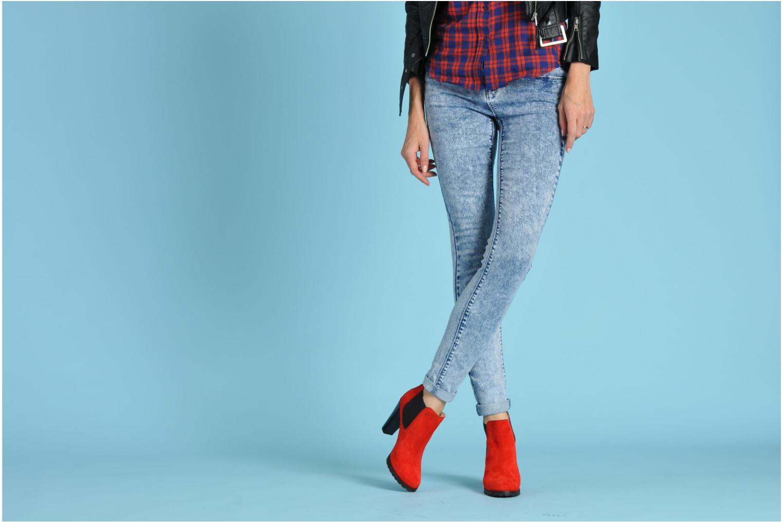Bottines et boots Anaki Sabrina Bleu vue bas / vue portée sac