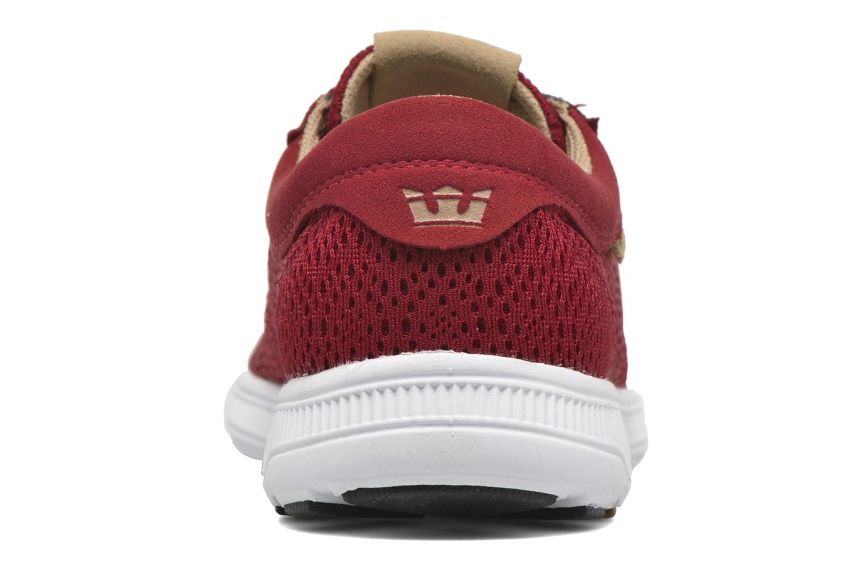 Sneaker Supra Hammer Run rot ansicht von rechts
