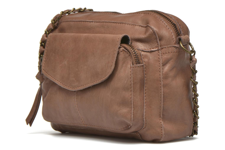 Handtaschen Pieces Naina leather Crossover new beige schuhe getragen