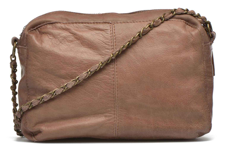 Handtaschen Pieces Naina leather Crossover new beige ansicht von vorne