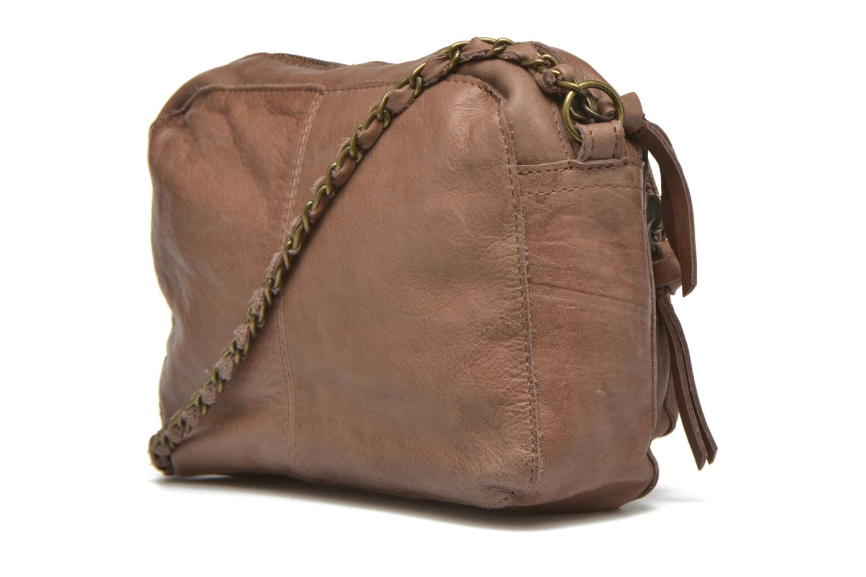 Handtaschen Pieces Naina leather Crossover new beige ansicht von rechts