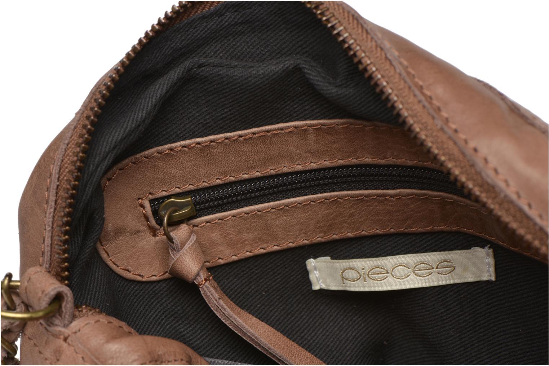 Handtassen Pieces Naina leather Crossover new Beige achterkant