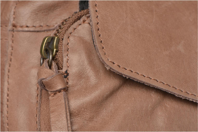 Handtaschen Pieces Naina leather Crossover new beige ansicht von links