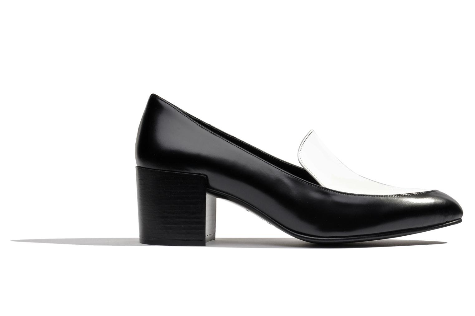 Loafers Made by SARENZA Bataclan #26 Black detailed view/ Pair view