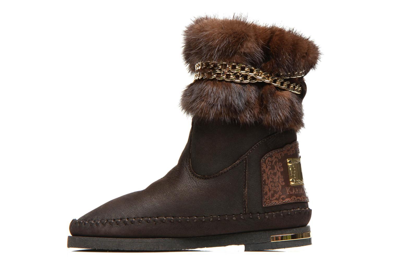 Boots en enkellaarsjes Karma of Charme Muk11 Bruin voorkant