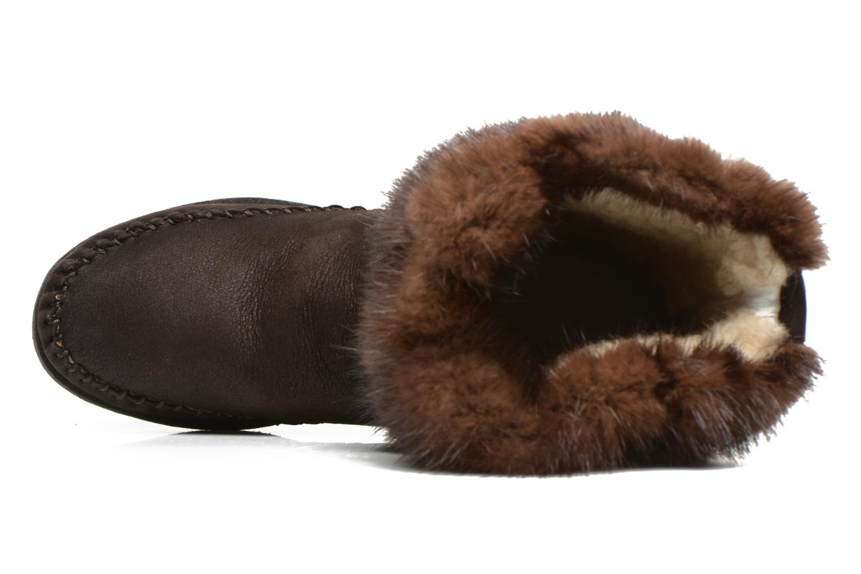 Boots en enkellaarsjes Karma of Charme Muk11 Bruin links