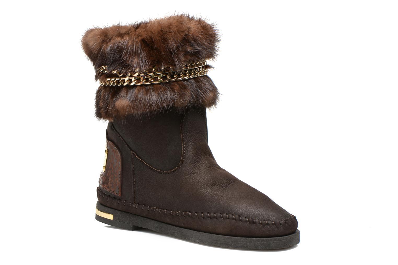 Boots en enkellaarsjes Karma of Charme Muk11 Bruin detail