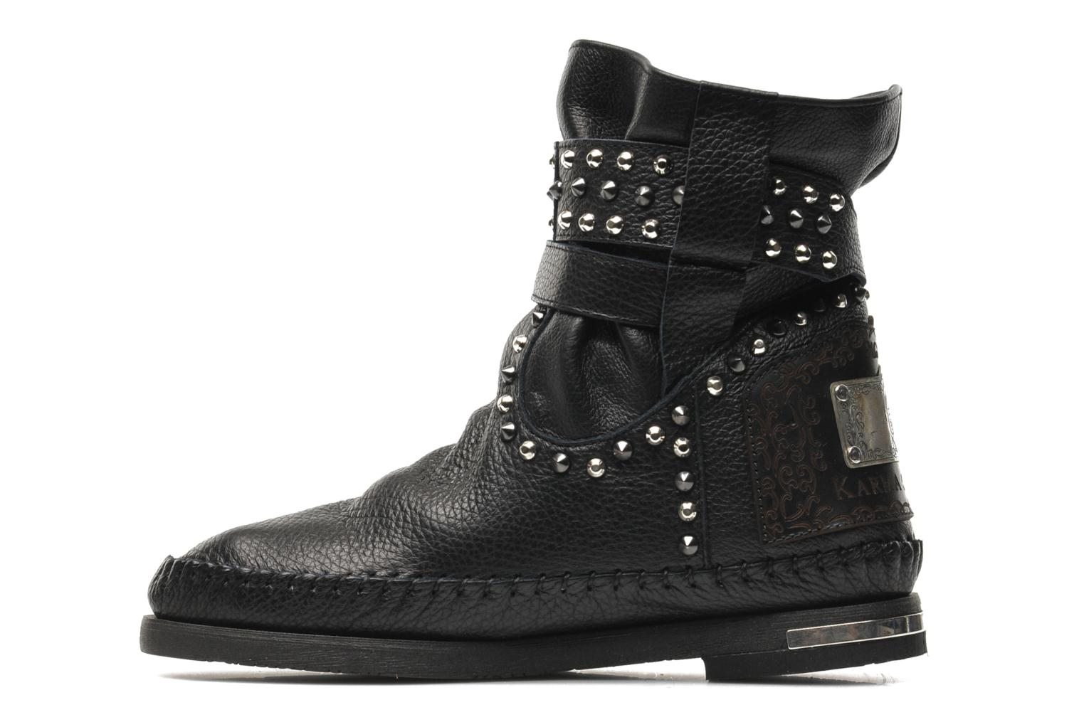 Ankle boots Karma of Charme London Dark Black front view
